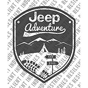 Jeep Wrangler Adventure Badge Decal Cherokee Decal Funny Vinyl Jk Cj Tj Yj Xj Xk Die Cut Sticker Rubicon Sahara Wall Laptop