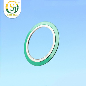 ASME B16.20 stainless steel Spiral Wound Gasket with inner ring and out ring