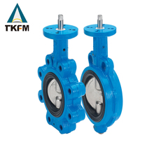 China TKFM high demand products aluminium bronze 4 ''pneumatic stainless steel metal seat butterfly valve handle type