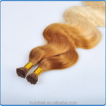 The most demanded products about i tip hair in the latest products market ombre wavy i link hair extension