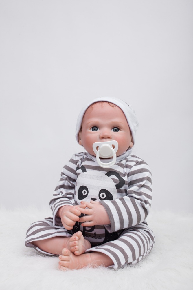 Other Dolls Competent Realistic Reborn Doll 22 Inch Lifelike Handmade Soft Body Toy Weighted Roborn... Dolls & Bears