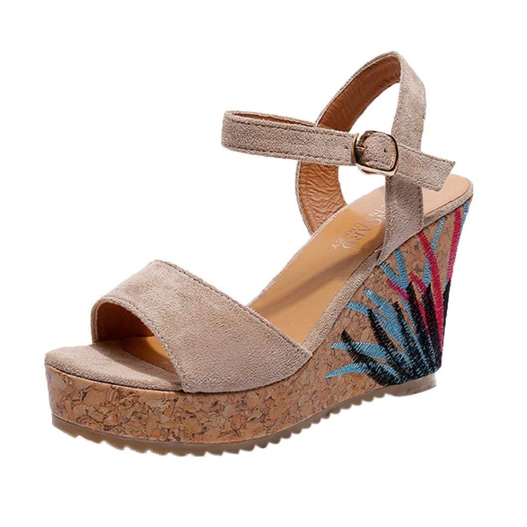 G&Kshop Wedge Sandal,Women High Heels Shoes Summer Platform Wedges Sandals