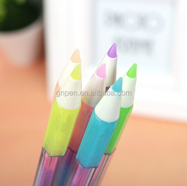 0.7mm plastic clip pen gel test good color gel ink pen