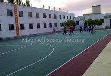 PP interlocking outdoor court basketball/badminton sports flooring with hight quality