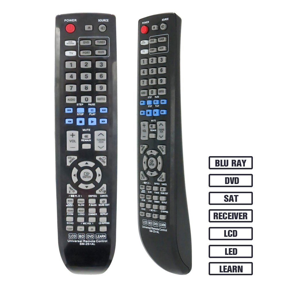 Gvirtue Universal Remote ControlGSM-25 CompatibleReplacement for Samsung TV/ LCD/ DVD/ Receiver/ Blu-ray Disc/ SAT, BN59-00997A, BN59-00850A, BN59-00852A, BN59-00854A, BN59-01041A, BN59-00673A