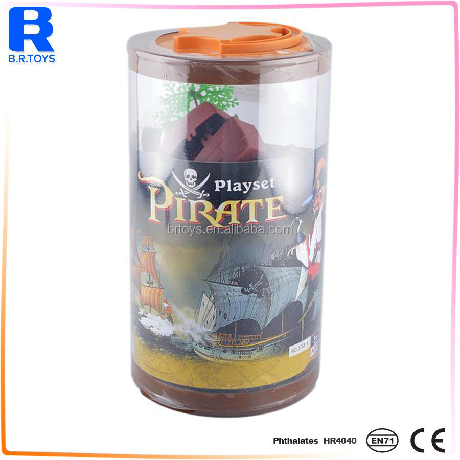 Pirate 3d building blocks forest educational toy for kids