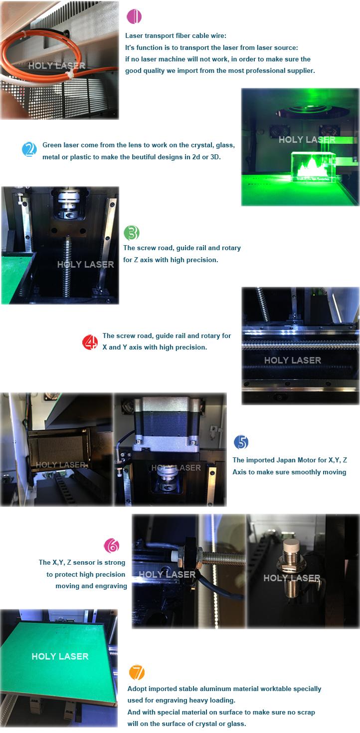 Harga Yang Kompetitif 3D Foto Kristal Laser Inside Kaca Dalam Engraving Mesin