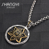 Titanium gold DIY personalized name pendant necklace with name