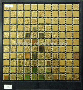 Gold crystal glass mosaic tile for the decoration wall