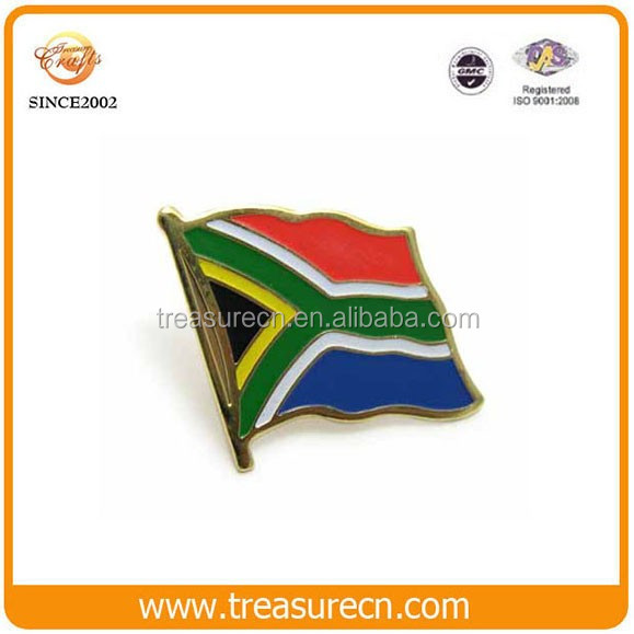 Custom South Africa Souvenir Flag Metal Cheap Lapel Pin