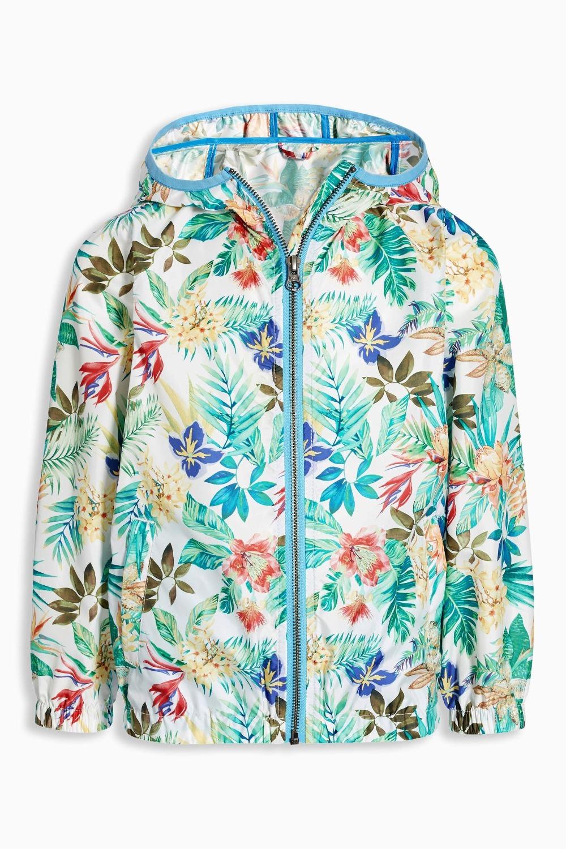2016 new Summer girls Sunscreen coat girls Ultra thin fashion jacket Tropical style Printed Jacket Girl