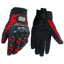 Motorcycle accessories on road gloves