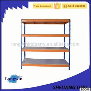 Commercial 4 Shelves Strong way Steel Shelving grocery used store shelving for sale