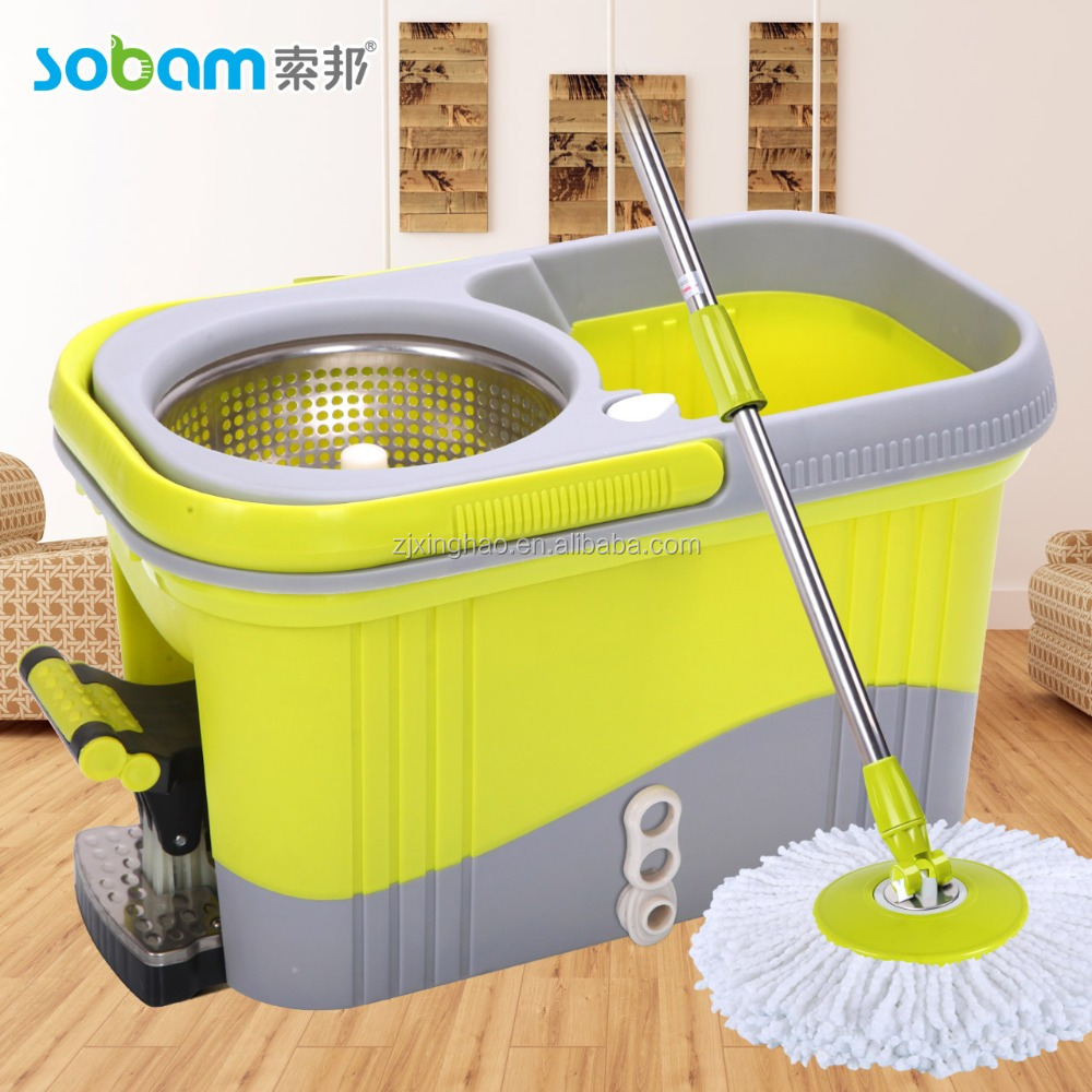 balai serpillere spongio 360 spin mop turbo double bac 2. Black Bedroom Furniture Sets. Home Design Ideas