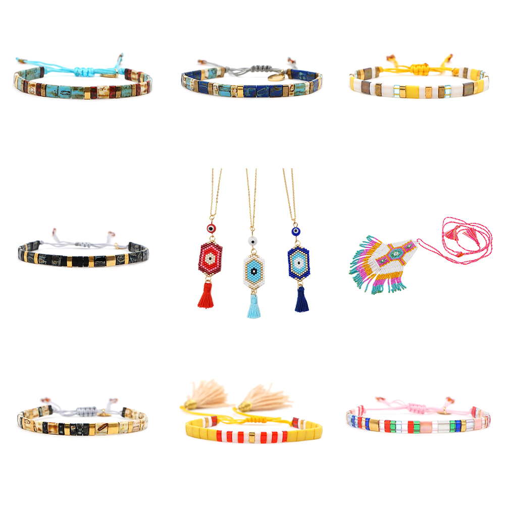 Trendy Summer Bijoux Women Unique Ethnic Bracelets DIY Jewellery