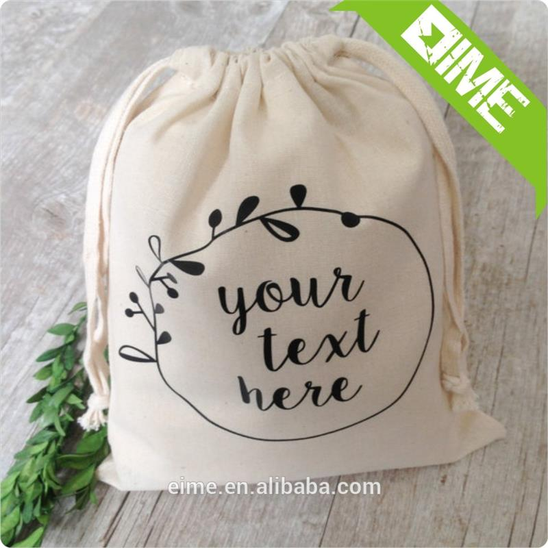 Organza Cotton Drawstring Bag With Nice Pattern Good Quality
