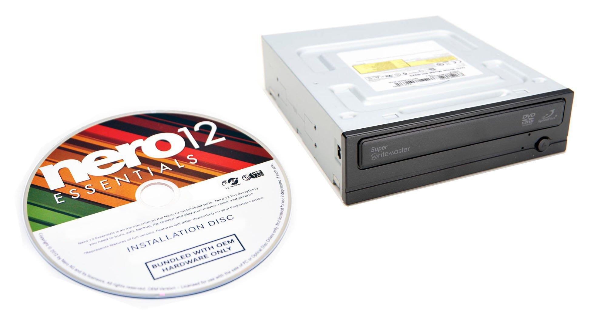Samsung 24x SATA DVD Burner Internal Drive SH-224DB/BEBE (Black) Bulk + Nero Multimedia Suite 12 Essentials CD/DVD Burning Software