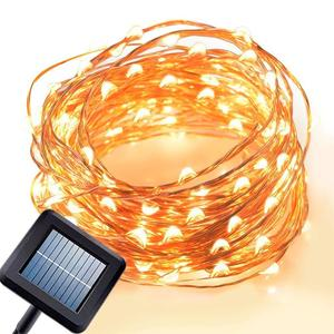 Custom Outdoor Solar Powered Micro Copper Wire Led Christmas Fairy String Lights