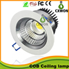 Round led downlight cob Ceiling lamp cutout 55mm 75mm 120mm recessed led cob downlight