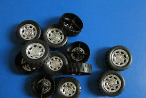 High wear-proof silicone rubber car/toy wheels
