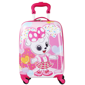 2018 New Design Cheap Luggage Bags Square Shape Kids Luggage on Sale ABS Travel Suitcase School Supplies Set