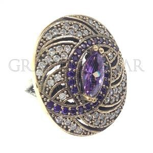 Istanbul Jewellery Rings Modern Purple From Turkey Handmade