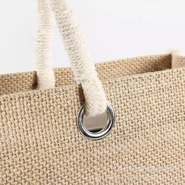 Cheap price custom logo eco friendly jute shopping bag