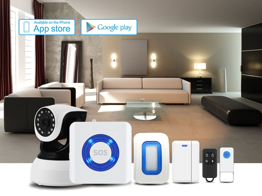 2017 Amazon top sell, Wifi Alarm System, Wireless Home Alarm Security System Easy to Operate DIY Kit