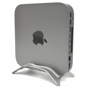 Tinpec Mac mini Alloy Desktop Stand, MAC MINI Aluminium Stand All Model Space Gray,Exact Fit Size for 2018 New MAC Mini