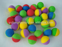 colorful soft Eva ball,Nbr foam rubber ball,small foaming ball