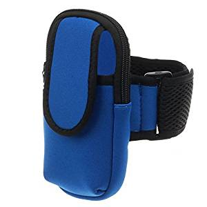 Phone Arm Bag - TOOGOO(R)New Outdoor Sports Running Wrist Pouch Mobile Cell Phone Arm Bag Wallet Color:Blue Size:L