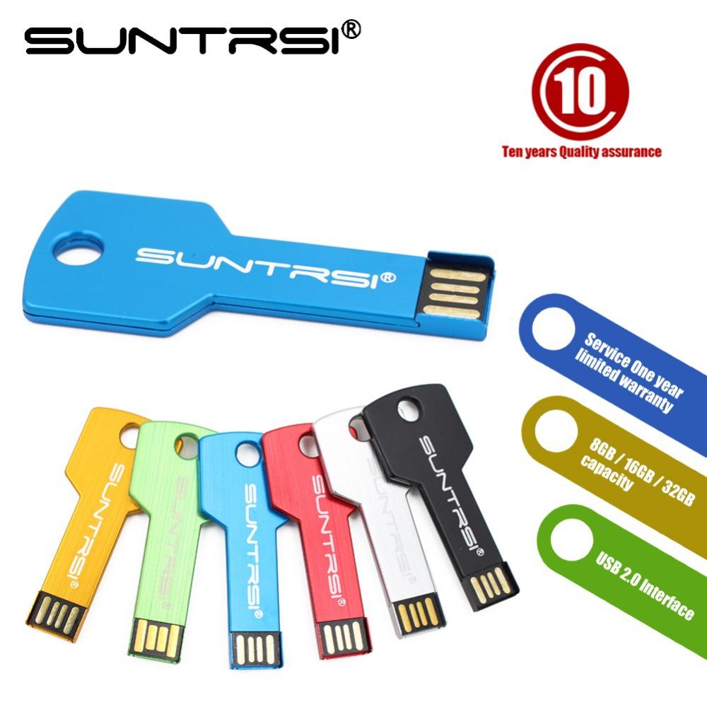 Suntrsi usb flash drive USB 2 0 Pen Drive 32gb 16gb 8gb 4gb pendrive waterproof Metal