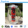 Clear plastic acrylic fruit infusion pitcher juice jug