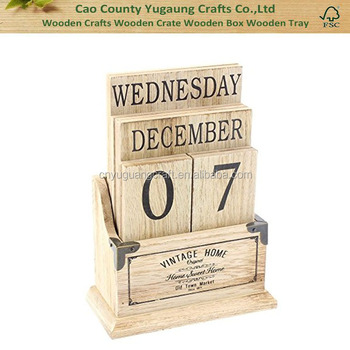 Vintage Wooden Perpetual Calendar Buy High Quality Wooden