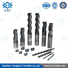 Professional tungsten solid carbide 2 flutes high precision stainless steel thread end mill bits/tungsten carbide endmill