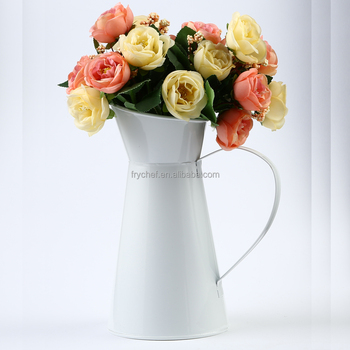 Cheaper Price Sell Metal Pitcher Flower Vase F0125 /900 pcs In Stock