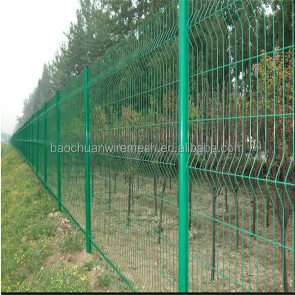 Hebei Baochuan steel wire mesh fence panel/ 3D bending welded mesh