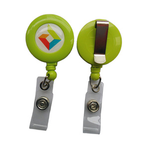 Customized Logo and Color Retractable Badge Holder Reel with Vinyl Strap and Belt Clip