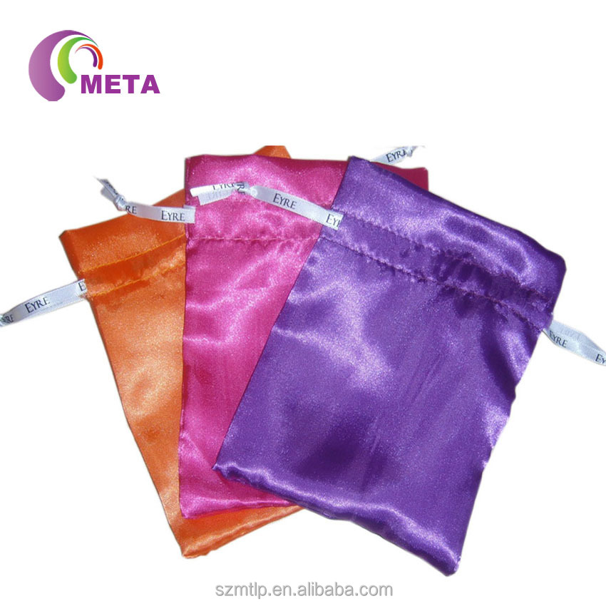 Promotation Fashion Silk Custom Made Satin Organza Bags