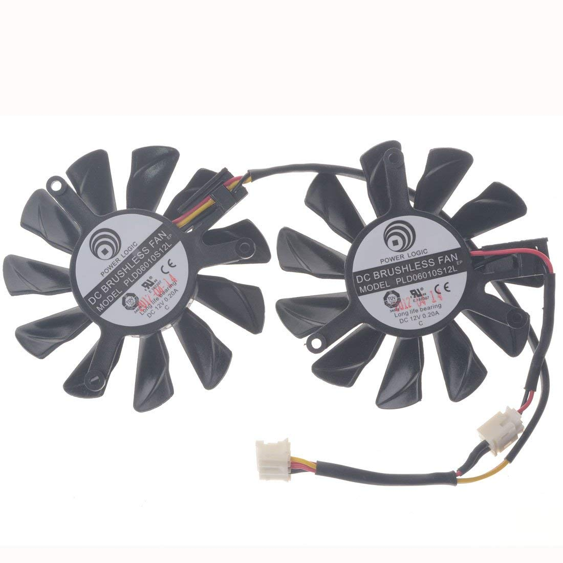 PLD06010S12L 12V 0.2A 55mm 4 Pin Replacement Video Card Cooling Fan Graphics Card Fan