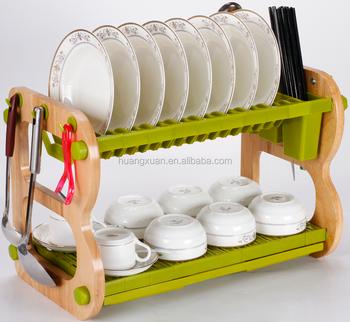 Eco Friendly Easy Storage Dish Drying Rack Dish Drainer Rack Kitchen Sink  Drain Dish Rack