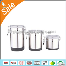 new design stainless steel kitchen coffee canister set for sale