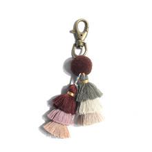 3 шт./лот, персонализированная длинная красочная трехслойная кисточка для брелка, сумка, подвеска для телефона, украшение для дома, аксессуа...(Китай)
