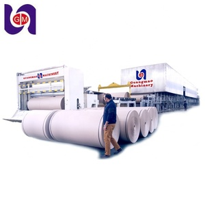 HOT SALE 10 ton per day 1575mm corrugated cardboard production line, waste carton box paper recycling machine, kraft paper mill