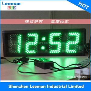 clock with date temperature display solar powered led signs