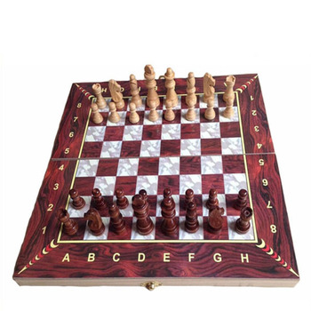 Antique Wood Chinese Chess Set Wooden