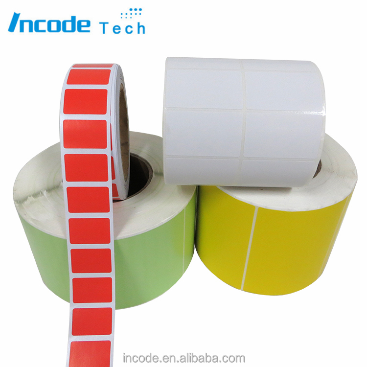 High quality thermal transfer blank coated paper barcode roller stickers label for printing