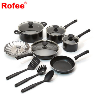 Aluminum Ceramic cookware sets palm restaurant amc cookware price