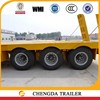 3 axle dubai low loader trailer for transporting the mining machine