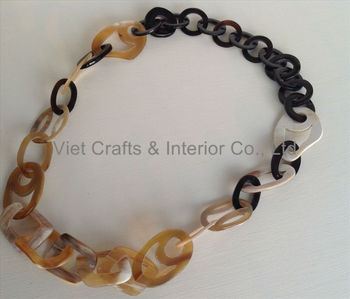 African Cow Horn Necklace